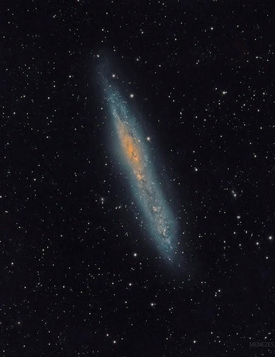 NGC 55 Fernando Menezes, Brazil, June & July 2019. Equipment: QHY16200A mono CCD camera, Sky-Watcher Esprit 150ED apo triplet, iOptron CEM60-EC mount