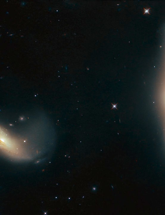 NGC 6285 and NGC 6286 HUBBLE SPACE TELESCOPE, 25 NOVEMBER 2019. Credit: ESA/Hubble & NASA, K. Larson et al.