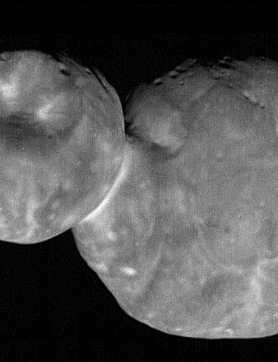 New Horizons flew by Kuiper Belt Object 486958 Arrokoth on 1 January 2019. Credit: NASA/JPL-Caltech