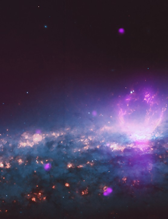 Galaxy NGC 3079 Chandra X-ray Observatory, Hubble Space Telescope, 28 February 2019