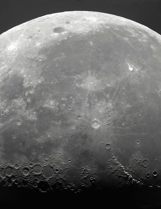 Moon mosaic Hugh Bellamy, Aberkenfig, South Wales, 21 September 2019. Equipment: ZWO ASI 120MC camera, Sky-Watcher 254mm Newtonian, EQ6 Syntrek mount