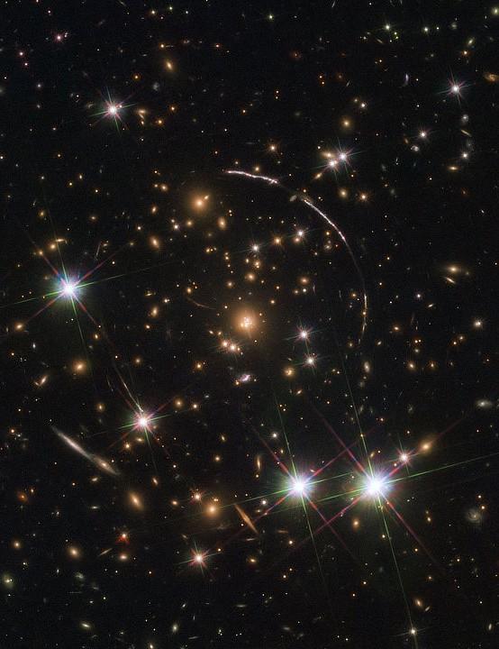 Sunburst Arc Galaxy Hubble Space Telescope, 7 November 2019. Credit: ESA/Hubble, NASA, Rivera-Thorsen et al.