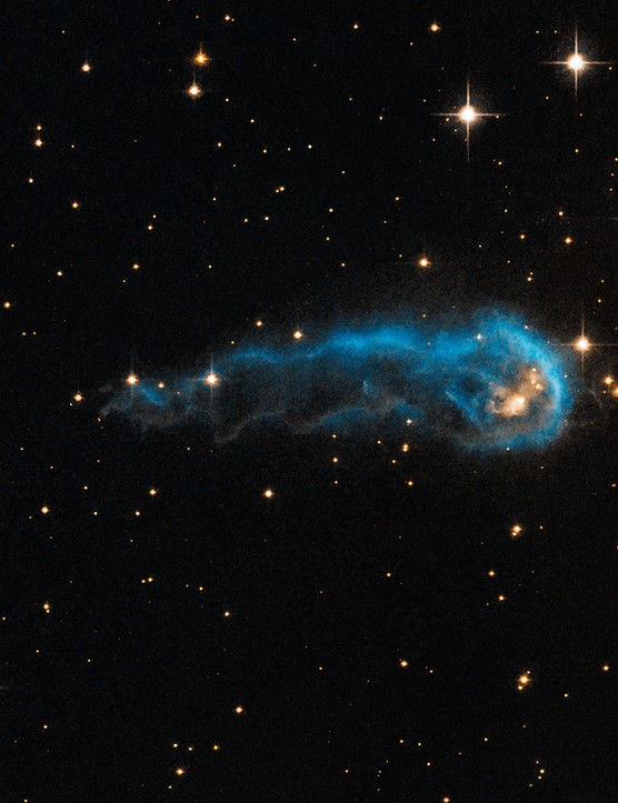 IRAS 20324+4057 30 August 2013. Found 4,500 lightyears away in Cygnus, this lightyear-long knot of interstellar gas and dust resembles a caterpillar crawling across space. Credit: NASA, ESA, the Hubble Heritage Team (STScI/AURA), and IPHAS