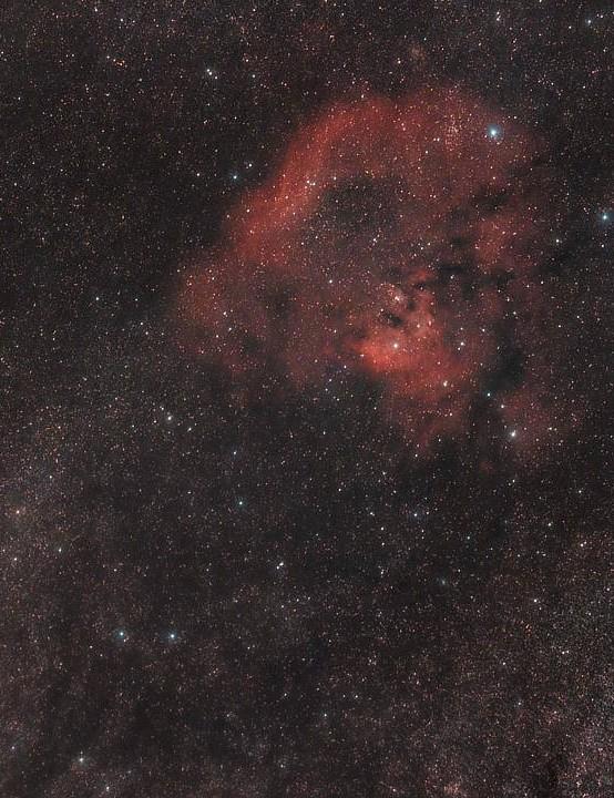 NGC 7822 Nikola Milicev, Serbia, 4 August 2019. Equipment: Canon EOS 1300D DSLR astromodified, Sky-Watcher Star Adventurer