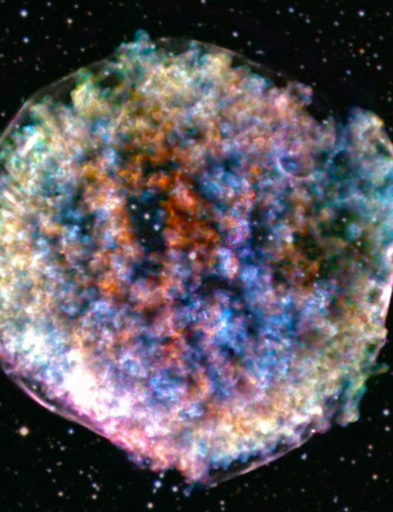 Supernova remnant Tycho Lumpy death star Chandra X-ray Observatory and Sloan Digital Sky Survey, 17 October 2019