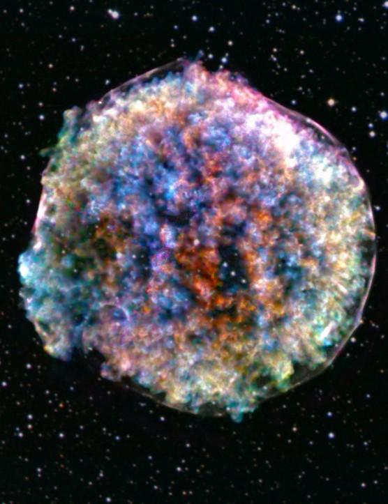 Supernova remnant Tycho Lumpy death star Chandra X-ray Observatory and Sloan Digital Sky Survey, 17 October 2019