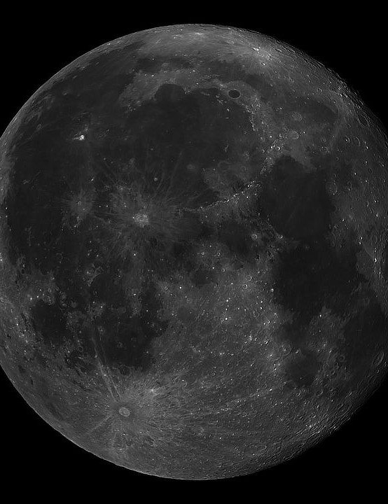 The Moon Pete Strange, Bournemouth, 15 October 2019. Equipment: ZWO ASI 385MC camera, Sky-Watcher 130/900 Newtonian