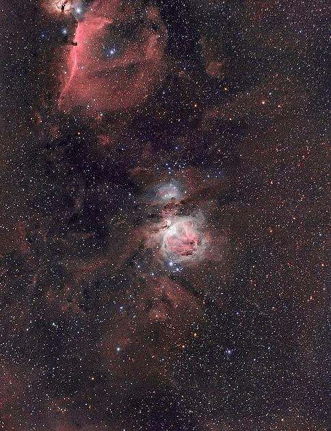 M42 Chris Platkiw, Derbyshire, 27 October 2019. Equipment: Canon 5DMkII (astromodified) camera, William Optics RedCat 51 apo refractor, Sky-Watcher HEQ5 Pro mount