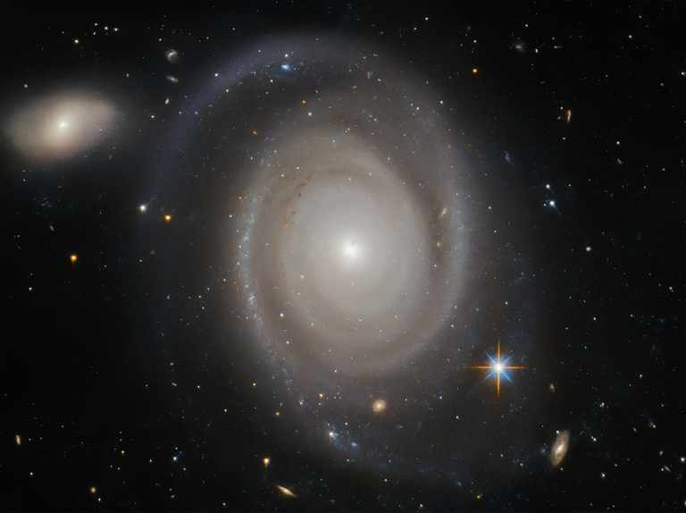 A Christmas galaxy in full view