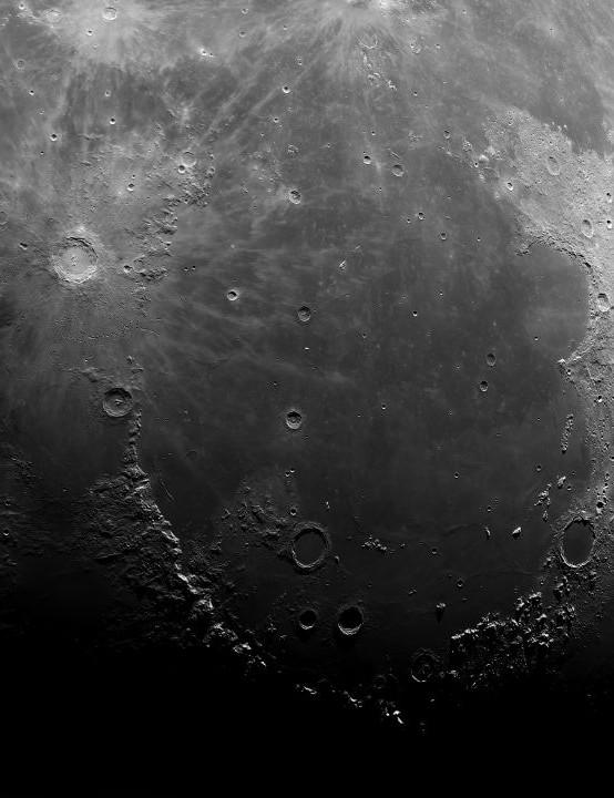 01 - Moon mosaic Craig Towell, Bristol, 21 September 2019 Equipment: Altair Astro GPCAM3 290M mono camera, Fullerscope 8.75