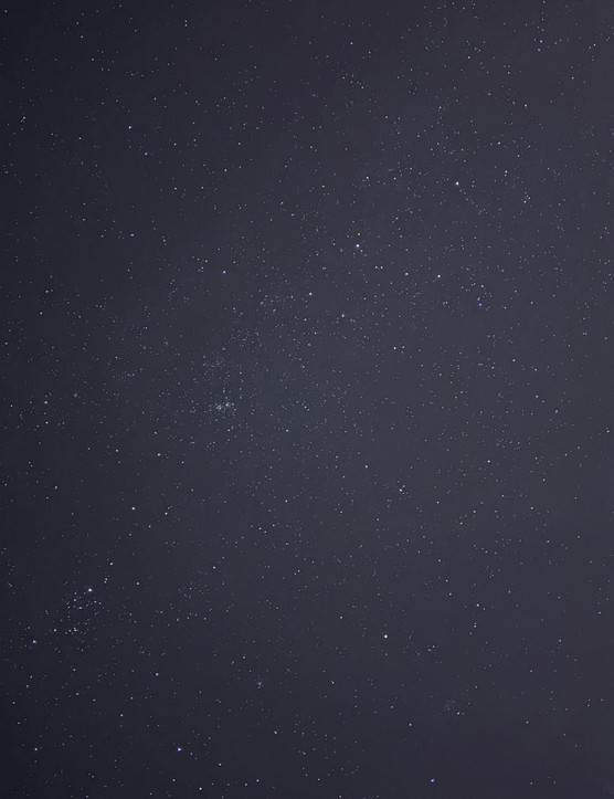 Cassiopeia to Perseus with Double Cluster. Exposure: 13.7