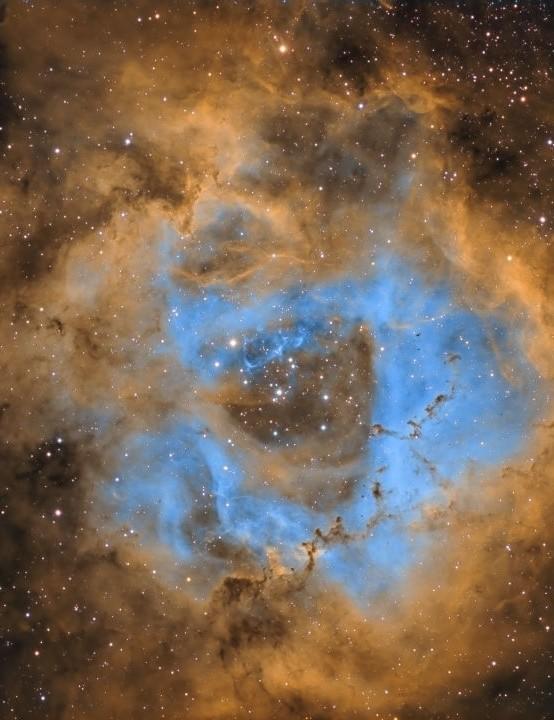 09 - The Rosette Nebula Steve MacDonald, Cyprus, 21–25 November 2019 Equipment: Moravian G2-8300 mono camera, Sky-Watcher Esprit 100 apo refractor, Sky-Watcher EQ6 mount
