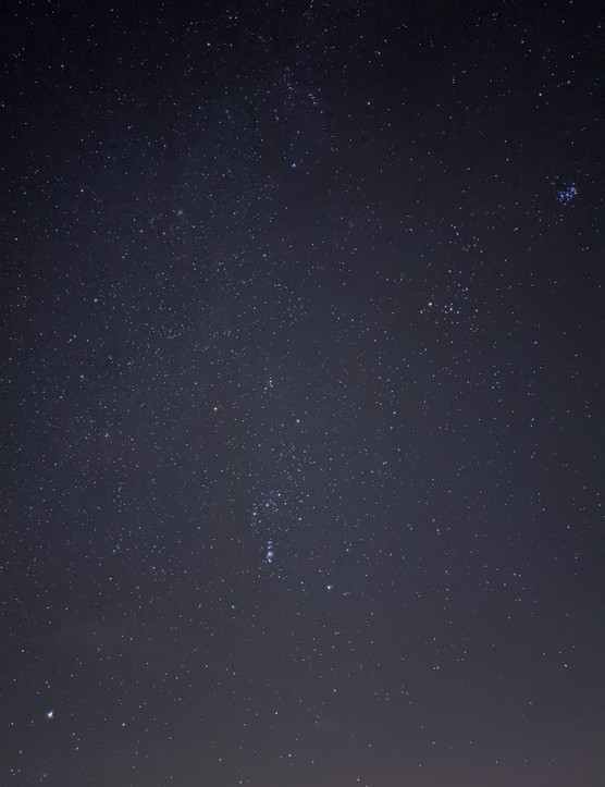 Orion, Taurus and Sirius captured at a darker location. Exposure: 15.8