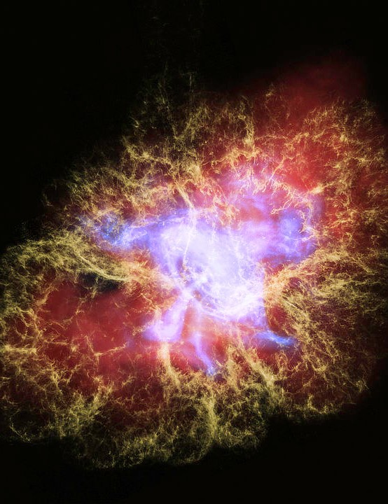 Crab Nebula Chandra X-Ray Observatory, Hubble Space Telescope, Spitzer Space Telescope, 5 January 2020 Credit: NASA/ESA/STScI/F.Summers, et al; NASA/CXC/SAO/N.Wolk, et al, & NASA/Caltech/IPAC/R.Hurt
