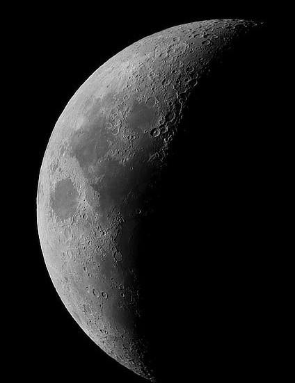 New Year's Moon Julie Straayer, Queensland, Australia, 1 January 2020 Equipment: Samsung Galaxy S9 phone, SkyWatcher 102mm Maksutov telescope, SkyWatcher AZ-GTI mount