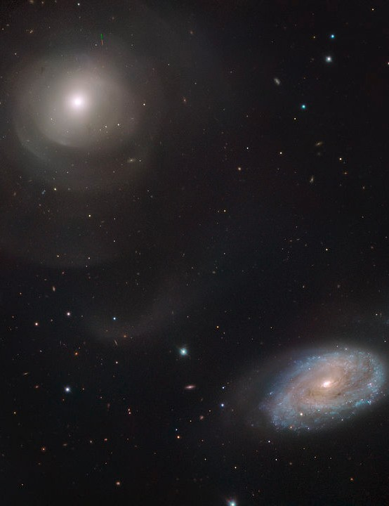 Spiral galaxy NGC 470 & shell elliptical NGC 474 Very Large Telescope, 6 January 2020 Credit: ESO