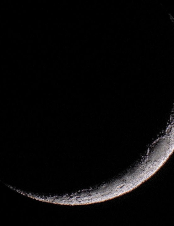 Crescent Moon Nick Jackson, Doncaster, 9 March 2019 Equipment: Nikon P900 digital bridge camera