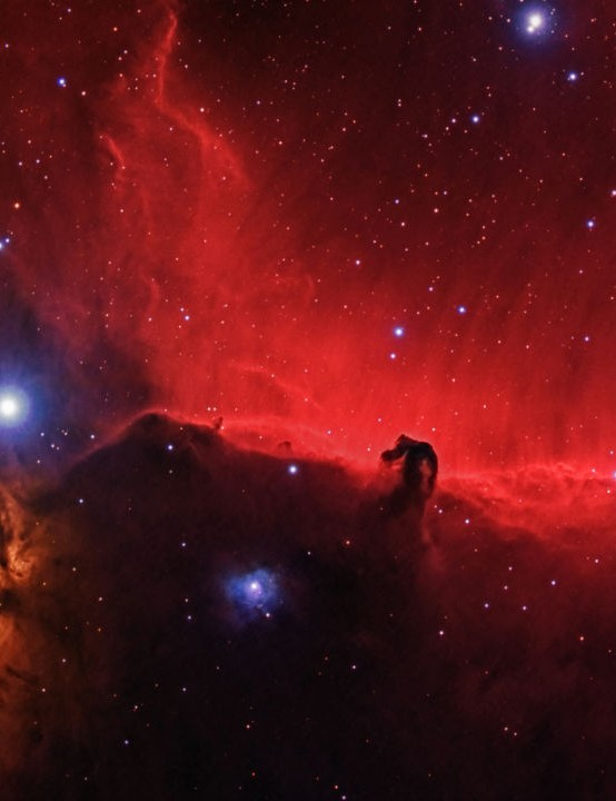 Horsehead and Flame Nebulae Ethan Roberts, Shoeburyness, Essex, 20 December 2019 to 18 January 2020 Equipment: Altair Hypercam 183M Pro Tec camera, Sky-Watcher Evostar 80ED refractor, Sky-Watcher NEQ6 mount