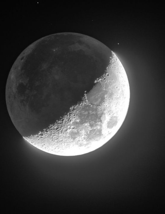 The Moon Kevin Lyons, Webster, New York, 1 January 2020 Equipment: Canon EOS 600D DSLR, Stellarvue Access 125mm refractor, Celestron CGEM mount