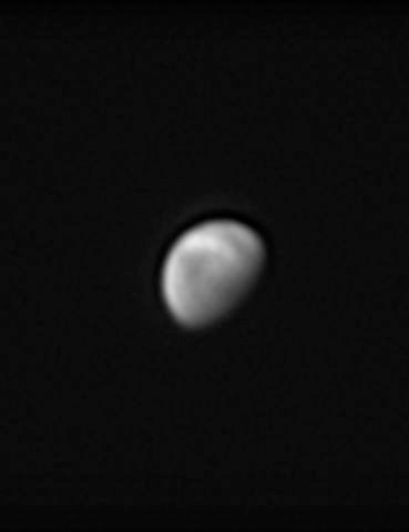 Venus Peter Presland, Biggleswade, Bedfordshire, 18 January 2020 Equipment: ZWO ASI 290mm mono camera, Celestron C9.25 OTA, Sky-Watcher HEQ5 mount