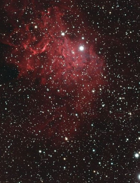 Flaming Star Nebula Michael Caller, South Croydon, Surrey, 17/18 January 2020