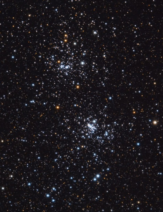 Double Cluster Chris Duffy, Hexham, Northumberland, 18 January 2020 Equipment: Altair Hypercam 183C camera, William Optics Zenithstar 61mm apo refractor, Sky-Watcher EQ6 mount