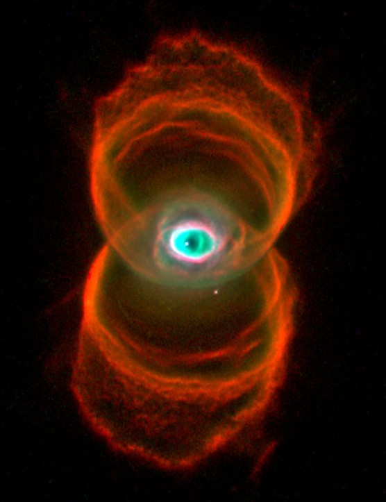 Pearl Jam fans may recognise this famous Hubble image of The Hourglass Nebula. It appeared on the front cover of their 2000 album Binaural. Credit: Raghvendra Sahai and John Trauger (JPL), the WFPC2 science team, and NASA/ESA