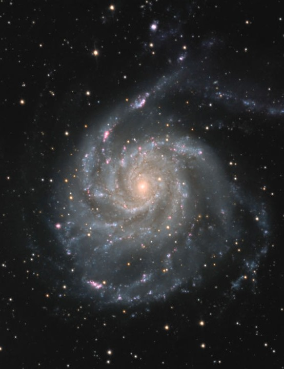 Pinwheel Galaxy James Harrison, Witney, Oxfordshire, March 2020 Equipment: ZWO ASI 183MM Pro mono camera, Sky-Watcher Explorer 200P Newtonian reflector, Sky-Watcher EQ6-R Pro mount
