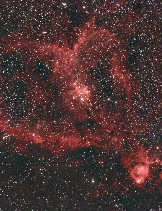 Heart Nebula Paul Gordon, Rochford, Essex, 21 January 2020 Equipment: Canon EOS 60Da DSLR, Borg 77EDII refractor, Sky-Watcher HEQ5 Pro mount