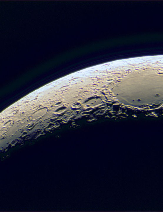 Mare Crisium Ian McCrea, Leyland, Lancashire, 27 March 2020 Equipment: ZWO ASI 224MC colour camera, Sky-Watcher Explorer 150PL Newtonian reflector, Sky-Watcher HEQ5 Pro mount