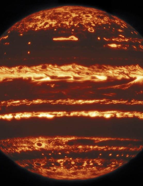 Jupiter Gemini North Telescope, 7 May 2020. Credit: International Gemini Observatory/NOIRLab/NSF/AURA MH Wong (UC Berkeley) and team