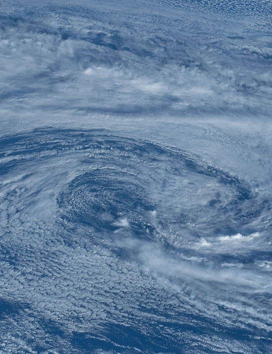 Typhoon from space ISS, 13 May 2020. Credit: NASA