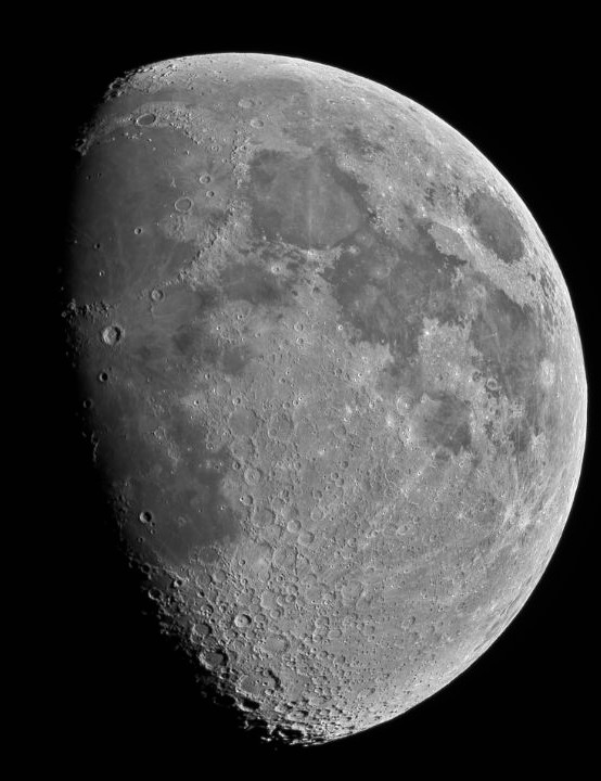 The Moon. Ronald Brecher, Guelph, Ontario, 31 May 2020 Equipment: QHY 16200-A camera, Optolong Ha filter, Sky-Watcher Esprit 150ED apo triplet refractor, Paramount MX mount