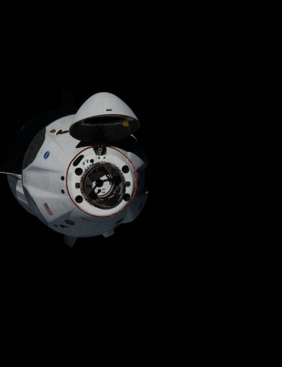 SpaceX Dragon about to dock with ISS ISS, 31 May 2020