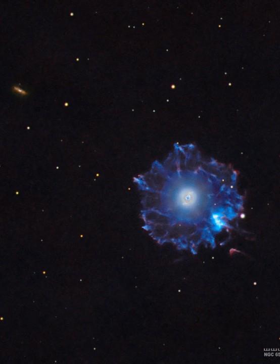 NGC 6543 Cat's Eye Nebula Douglas Struble, Taylor, Michigan, USA, 8 June 2020. Equipment: ZWO ASI 1600MM Pro mono camera, Explore Scientific ED APO 165mm FPL-53 apo refractor, Astro-Physics GTO-Mach 1 mount
