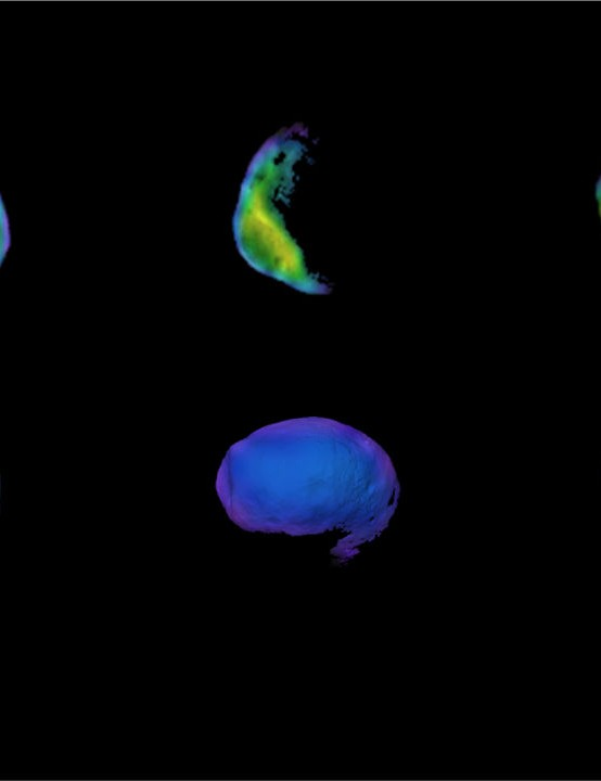 Six views of Martian moon, Phobos Mars Odyssey orbiter, 3 June 2020