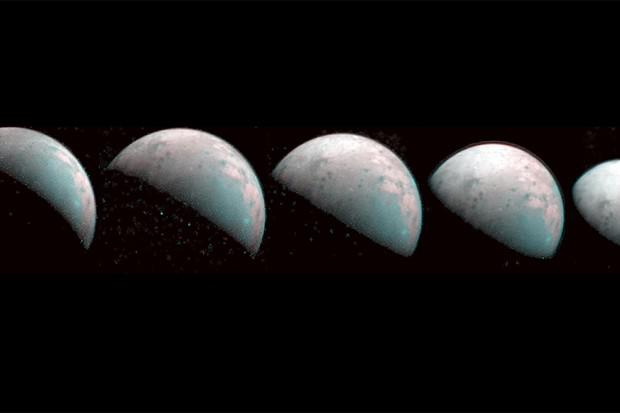 Juno images north pole of Jupiter's moon Ganymede