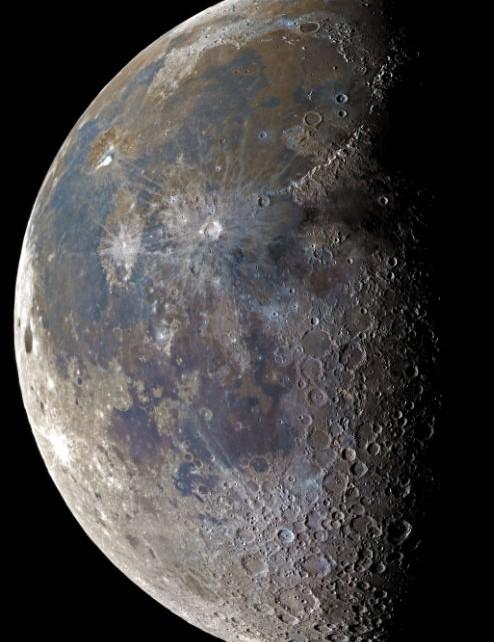 Mineral Moon Prabhakaran, Mleiha, United Arab Emirates, 15 February 2020. Equipment: ZWO ASI 290MC colour camera, GSO 16