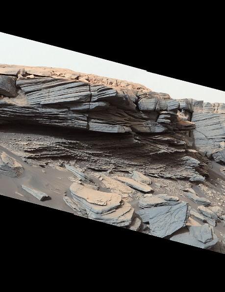 Greenheugh pediment, Mars Curiosity Mars rover, 6 July 2020. Credit: NASA/JPL-Caltech/MSSS