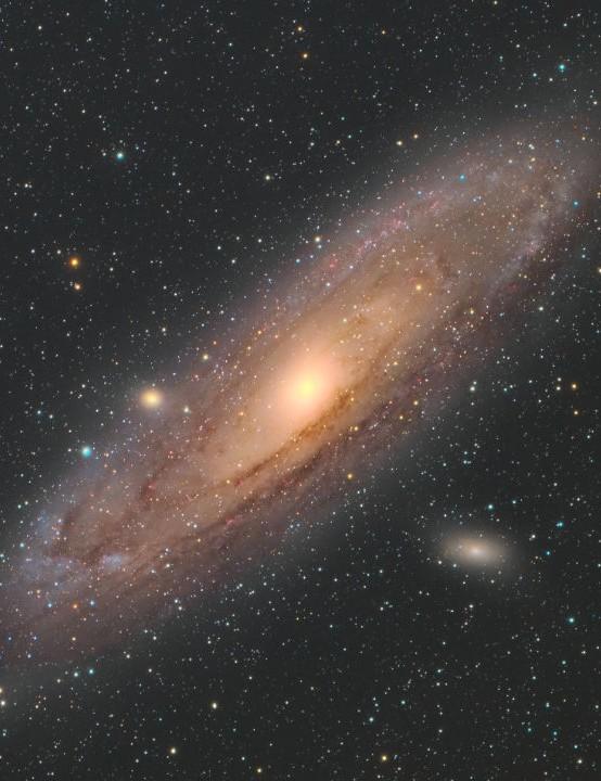 The Andromeda Galaxy Nishant Revur, Washington, USA, 19 June 2020. Equipment: ZWO ASI 294MC Pro colour camera, William Optics RedCat 51 apo refractor, Celestron Advanced VX mount