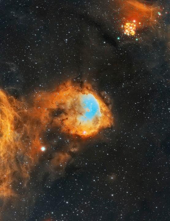 NGC 3324, Gabriela Mistral Nebula Fernando Oliveira de Menezes. Equipment: QHY 16200a camera, Sky-Watcher Esprit 150 apo triplet, iOptron CEM60 mount