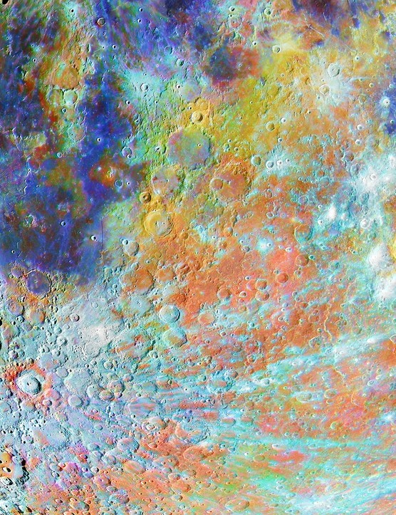Tycho Crater Region with Colours Alain Paillou (France). Winner, Our Moon. Equipment: Celestron C9.25, Orion Sirius EQ-G mount, ZWO ASI178MM and ASI178MC cameras.