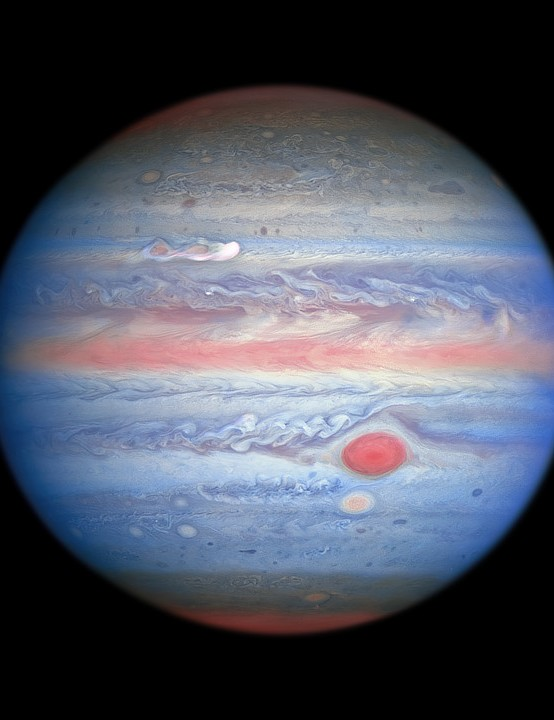 Jupiter in ultraviolet/visible/near-infrared light Hubble Space Telescope, 25 August 2020. Credit: NASA, ESA, A. Simon (Goddard Space Flight Center), and M. H. Wong (University of California, Berkeley) and the OPAL team.