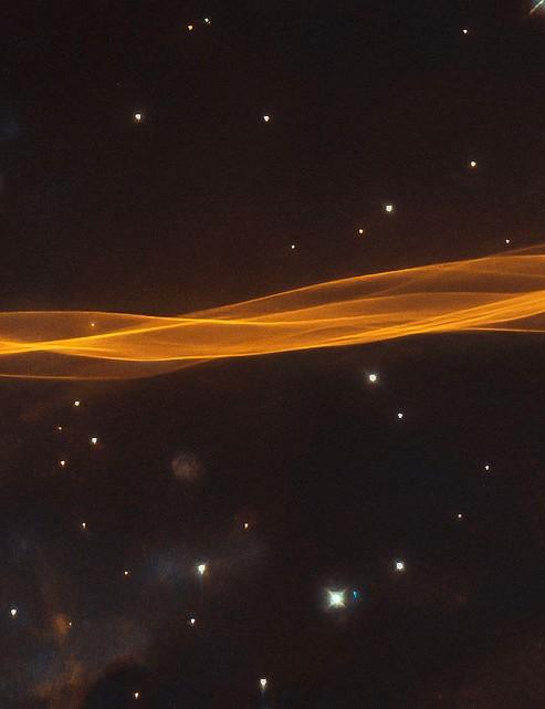 Remnant of supernova blast wave in Cygnus Hubble Space Telescope, 24 August 2020. Credit: ESA/Hubble & NASA, W. Blair / Acknowledgement: Leo Shatz
