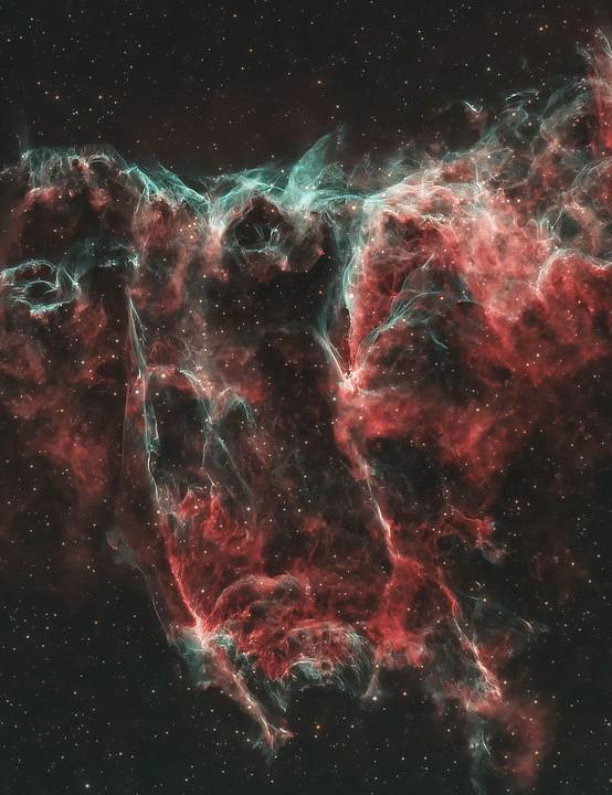 The Bat Nebula Chad Leader, Maryland, USA, 10 August 2020. Equipment: ZWO ASI 294MC Pro colour camera, Celestron EdgeHD 8-inch Schmidt-Cassegrain, Sky-Watcher EQ6-R Pro mount