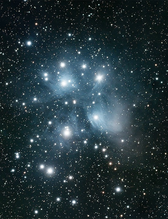 The Pleiades Robert Leach, Corfu, Greece, 28 August 2020. Equipment: ZWO ASI 183MC colour camera, William Optics RedCat 51 apo refractor, Sky-Watcher Star Adventurer mount