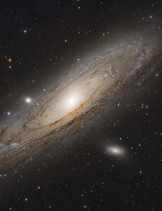 The Andromeda Galaxy Tom Howard, Isle of Wight/Crawley, December 2018 and August 2020. Equipment: Nikon D7000 DSLR camera, TS-Optics 65mm quadruplet refractor, Sky-Watcher EQ6 mount