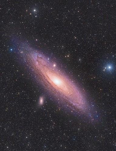 The Andromeda Galaxy Kush Chandaria, remotely via Telescope Live, IC Astronomy Observatory, Spain, 24 July 2020. Equipment: FLI PL16803 mono CCD camera, Takahashi FSQ-106EDX4 apo refractor, Paramount MX+ mount