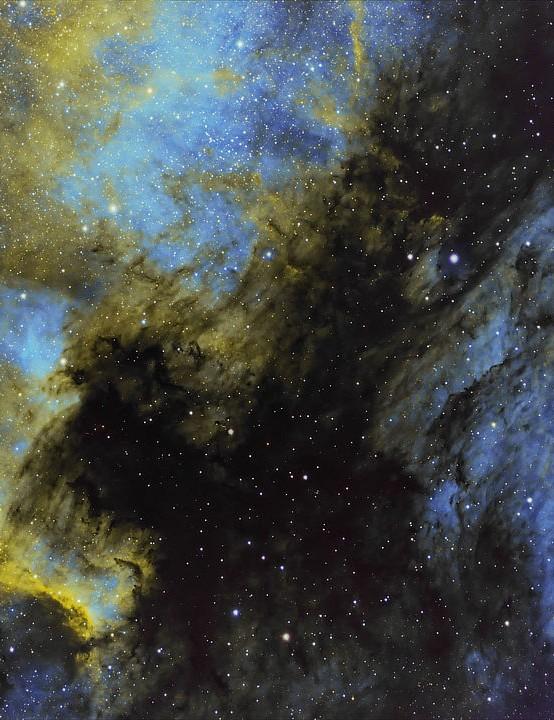 North America and Pelican Nebulae Neil Wyatt, Branston, Staffordshire, 20 and 21 July 2020. Equipment: ZWO ASI 1600MM Pro mono camera, Sky-Watcher 130PDS Newtonian, Sky-Watcher HEQ5 Pro mount