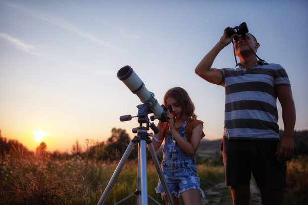 What different astronomy equipment will reveal in the night sky